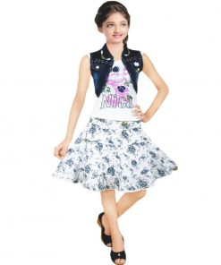 skirt and top design with jacket