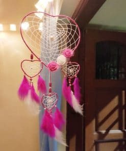 Pink Heart Dream Catcher